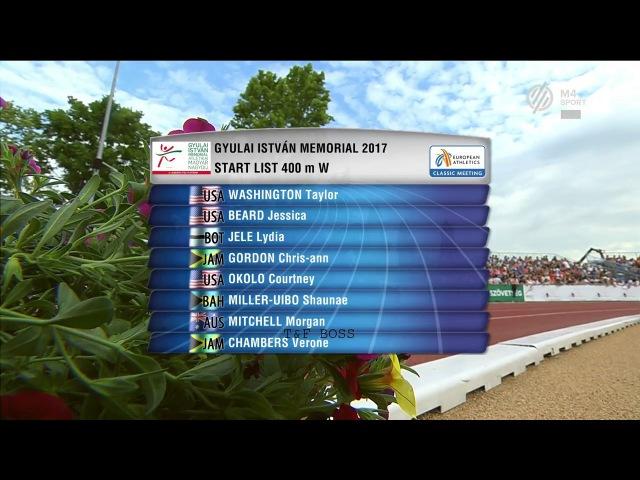 Shaunae Miller Uibo wins 400m at Gyulai Istvan Memorial 2017 1080p