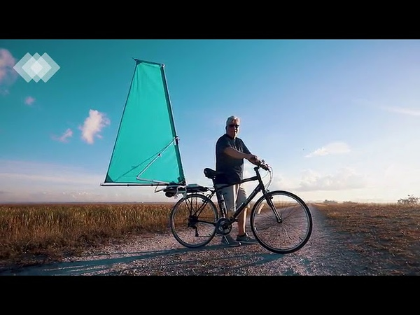 Deployable wind propulsion for bicycles CycleWing