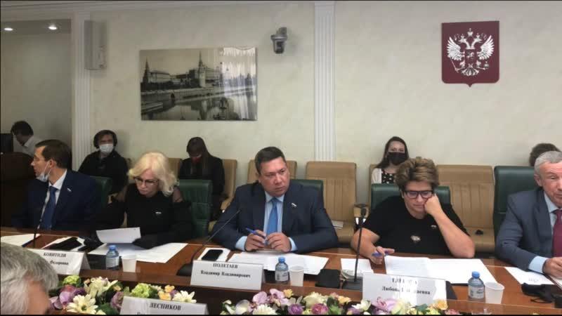 Заседание Временной комиссии СФ по защите государственного суверенитета и предотвращению вмешательства во внутренние дела Россий
