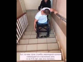 Попытка инвалида попасть ко врачу в поликлинику