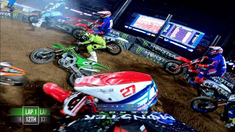 GoPro Adam Cianciarulo 2020 Glendale Supercross Triple Crown Main 3 Highlights