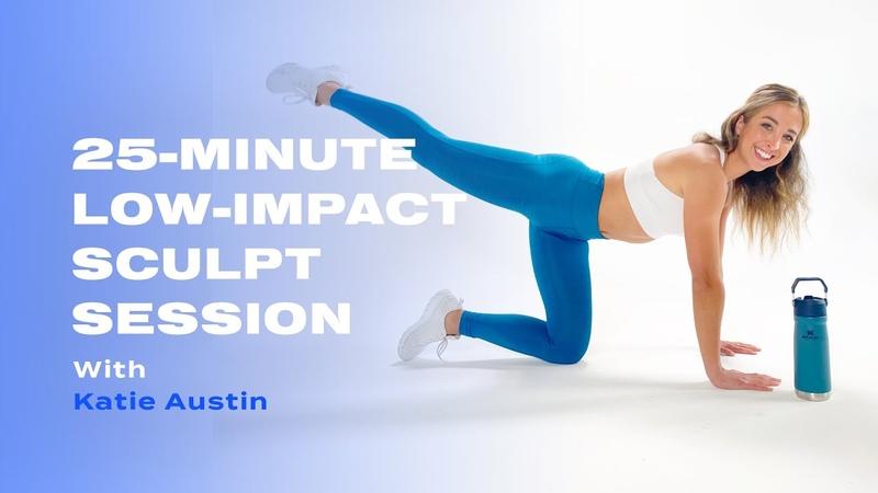 20 минутная низкоударная лепка всего тела с Кейти Остин 20 Minute Low Impact Sculpt Session With Katie Austin
