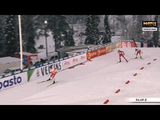 Александр Большунов завоёвывает серебро!