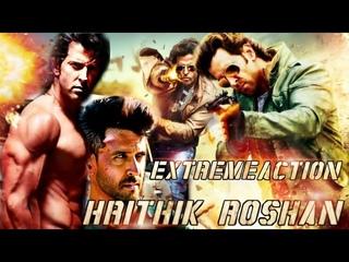 Hrithik Roshan Extreme Action Tribute ft. Dhoom Song   YRF   SRKFANDON  