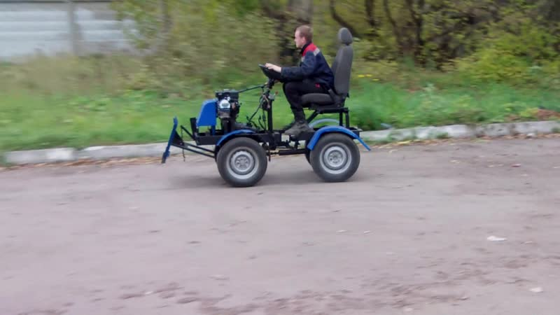 полноприводный мини - трактор