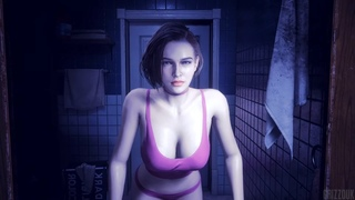 Resident Evil 3 Remake Jill Valentine in Thicc Jiggle Nightwear PC Mod
