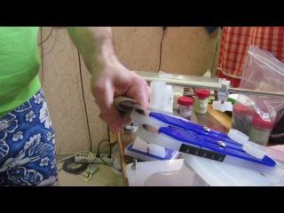 REX 121 работа алмазной пасты на стеклянном бланке.