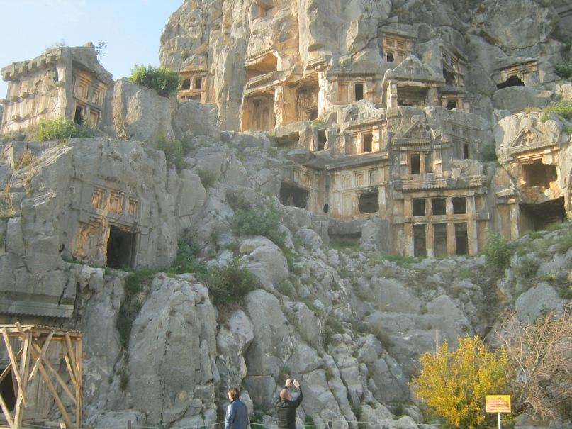 гробницы ликийских царей в Мыра