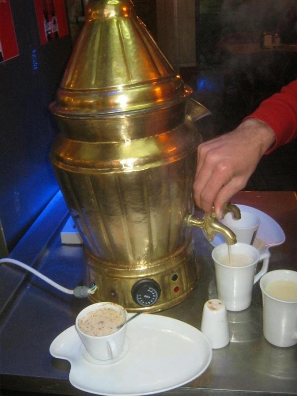 Салеп - напиток в городах Турции