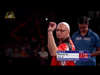 Michael Mansell vs Gino Vos (Dutch Darts Masters 2013 / Second Round)