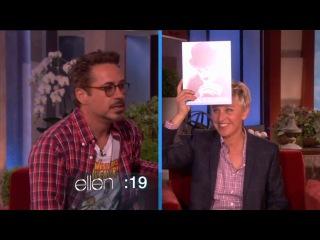 Ellen show: Robert Downy Jr. & Scarlett Johanson