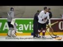 Treniņa skaņas Kūlens vada jautru treniņu skolo hokejistus