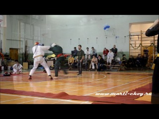 U Thaung Din Style Fighting from Moscow, Russia 21.12.2013