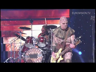 ▶ lordi hard rock hallelujah (finland) 2006 eurovision song contest winner youtube [720p]