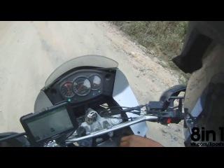 Ограбление мотоциклиста в Гватемале - пистолет и мачете / Robbed in Guatemala. Gun and machete