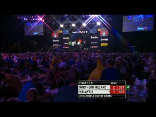 Northern Ireland vs Malaysia (PDC World Cup of Darts 2014 / First Round)