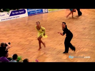Stanislav Nikolaev - Elena Ziuziukina, GOC Stuttgart 2012, WDSF Grand Slam latin, 3. round - jive