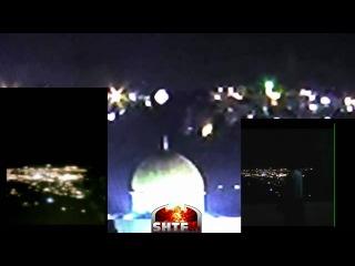 НЛО над Храмовой горой в Иерусалиме  Jerusalem UFO ALL THREE CAMERAS!