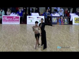 Jakub Drmota - Tereza Florova, Czech ballroom championship 2012, show - rumba MČR STT