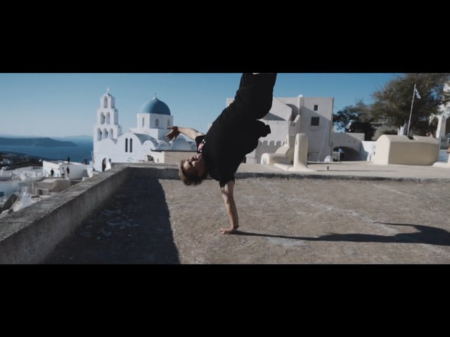 Day of Parkour at Santorini Pyrgos with Pasha Petkuns and Slava Petin