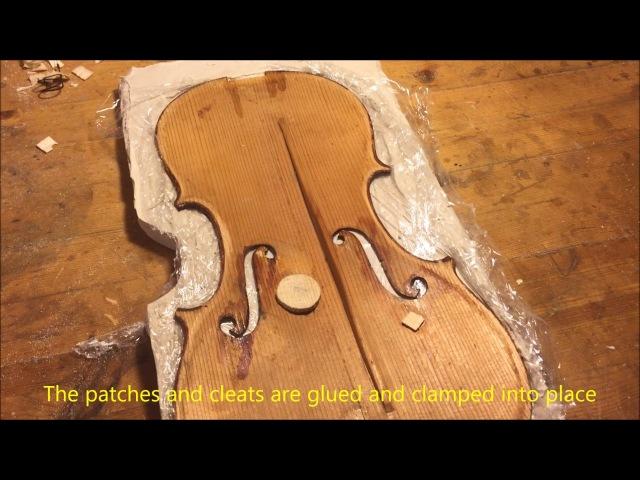 Violin Repair: Old German Strad Model