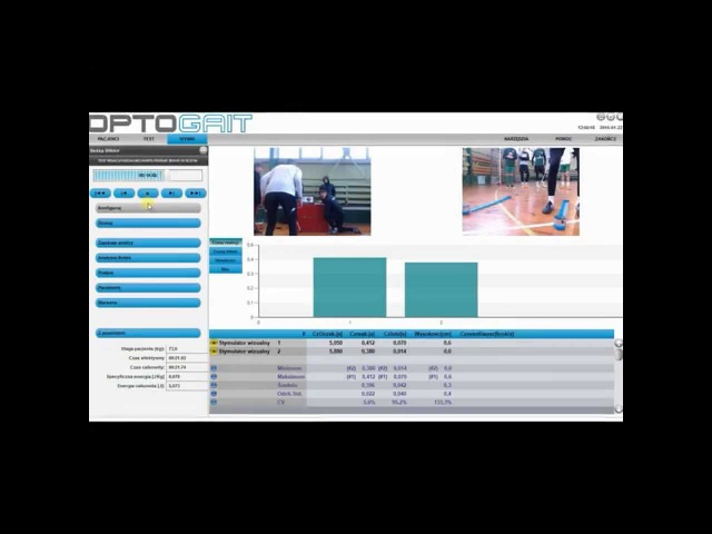 Optogait Squat jump Visual reaction MEDKONSULTING