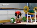 Zhou Jun 58kg China Round Back Deadlifts 2015 Junior Worlds Training Hall