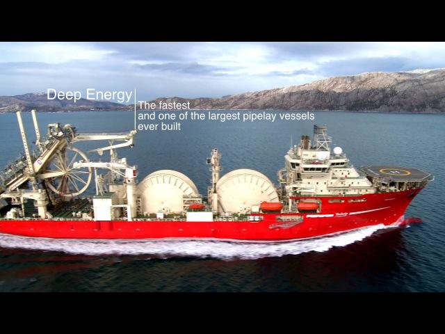 The Deep Energy Technips latest pipelay vessel!