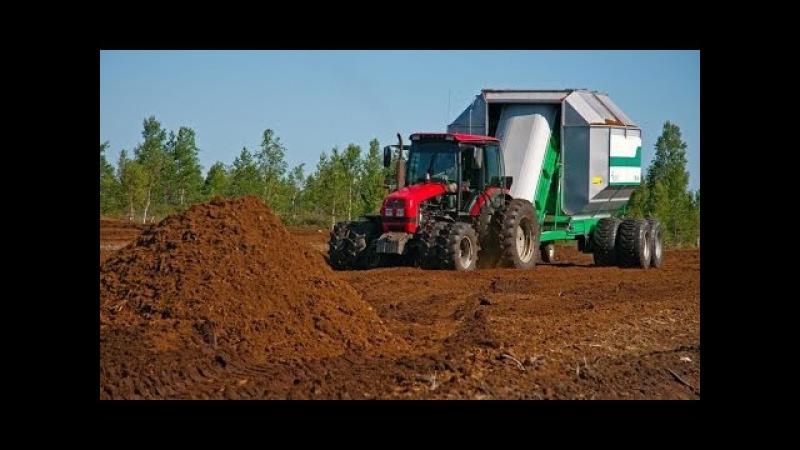 Peat harvesting Добыча торфа 2014 ЗАО МНПП Фарт HD