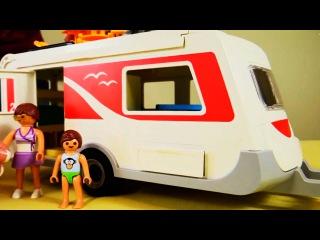 Конструктор Playmobil. Собираем фургон для кемпинга. Игровой набор для сюжетно-ролевых игр