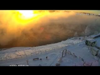 Веб-камеры К24: Волшебный рассвет с лебедями в посёлке Молодёжном