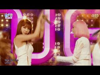  Выступление  2NE1 -The Baddest Female + FALLING IN LOVE @SBS Inkigayo.