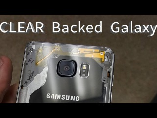 CLEAR back glass for Samsung Galaxy Phones custom DIY