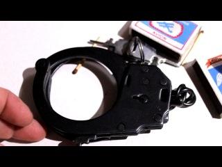 Как снять наручники без ключа при помощи спички - реальная технология взлома замка любых наручников