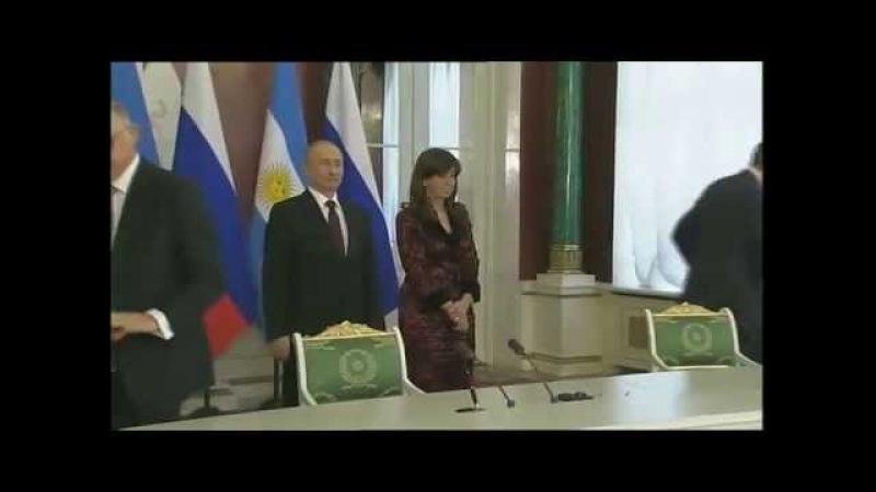 23 de ABR Firma de acuerdos bilaterales Cristina Fernández Visita Oficial a la Federación Rusa