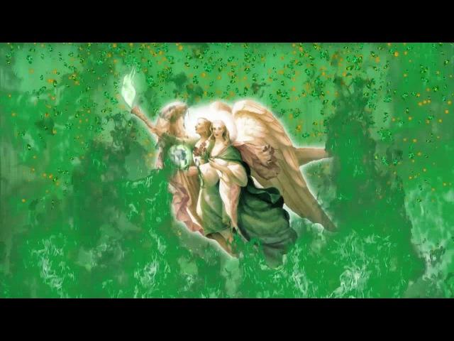 Визуализация Архангел Рафаил и Мать Мария Ангелы пятого луча Луч Истины и Исцеления Бога