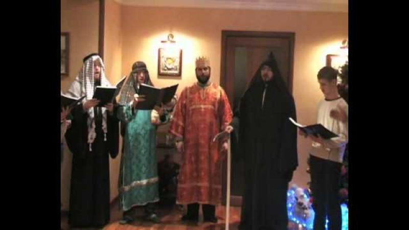Колядки в Донецке Різдвяний вертеп 2 часть