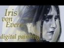 Iris von Everec digital painting