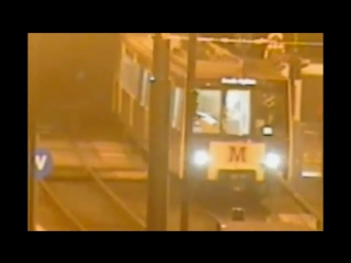 """car driver ploughs into a metro train after jumping a red light in newcastle, uk """
