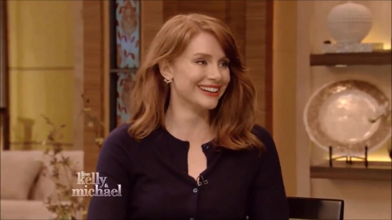 Bryce Dallas Howard Interview talks Jurrasic World Live With Kelly and Michael
