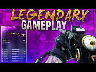 """NEW LEGENDARY LEVER ACTION """"GRIT"""" Gameplay! - COD AW NEW LEGENDARY WEAPON (AW SUPPLY DROP GUNS)"""