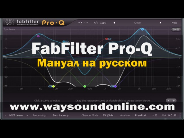 Плагин FabFilter Pro-Q (Pro-Q Мануал на русском) RUS