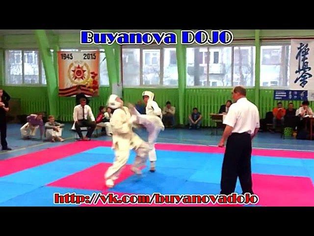 НОКАУТ 4 СЕКУНДЫ - Buyanova DOJO - Кёкусинкай - tengu.pro/ - ПОДГОТОВКА БОЙЦА