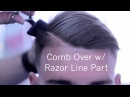 Comb Over ✂ Side Part Barber Tutorial Low Skin Fade Scissor Work Corte de pelo Kv7