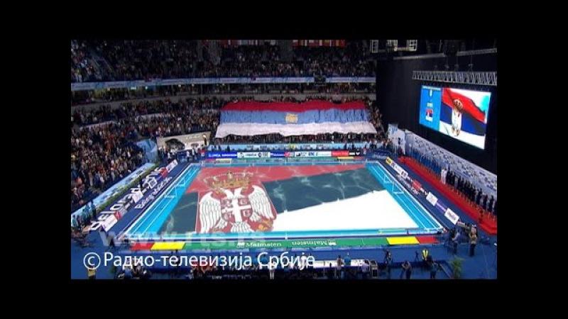 EP vaterpolo 2016 Srbija Rusija himne