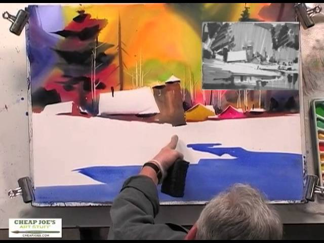 Painting a Country Scene Pt2 with Watercolor Artist Frank Francese