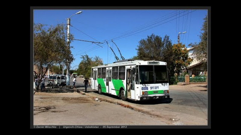 URGENCH CHIWA TROLLEYBUS Usbekistans letzter O Bus 05 09 2012