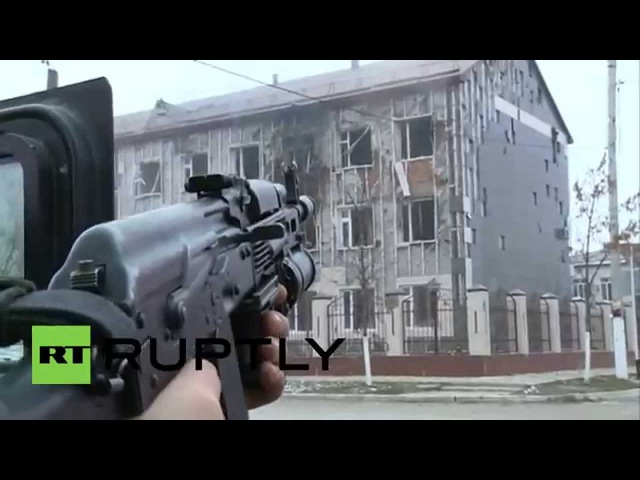 Russia ROCKET LAUNCHERS fired on Chechen militants in occupied school