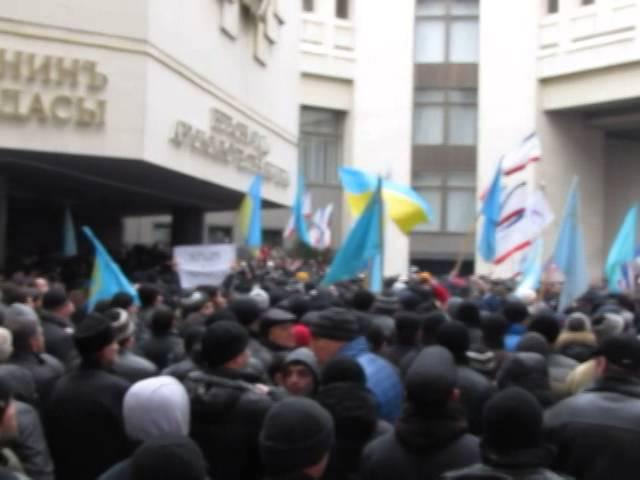 26 февраля 2014 Симферополь Татары 26 02 2014 16