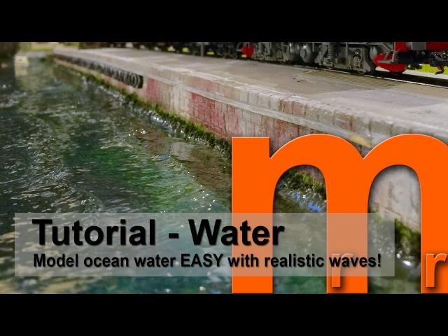 Toilet paper Glue = Realistic Ocean water